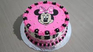 Kue Ulang Tahun Anak Perempuan 👧 Cara Menghias Kue Tart Minnie Mouse