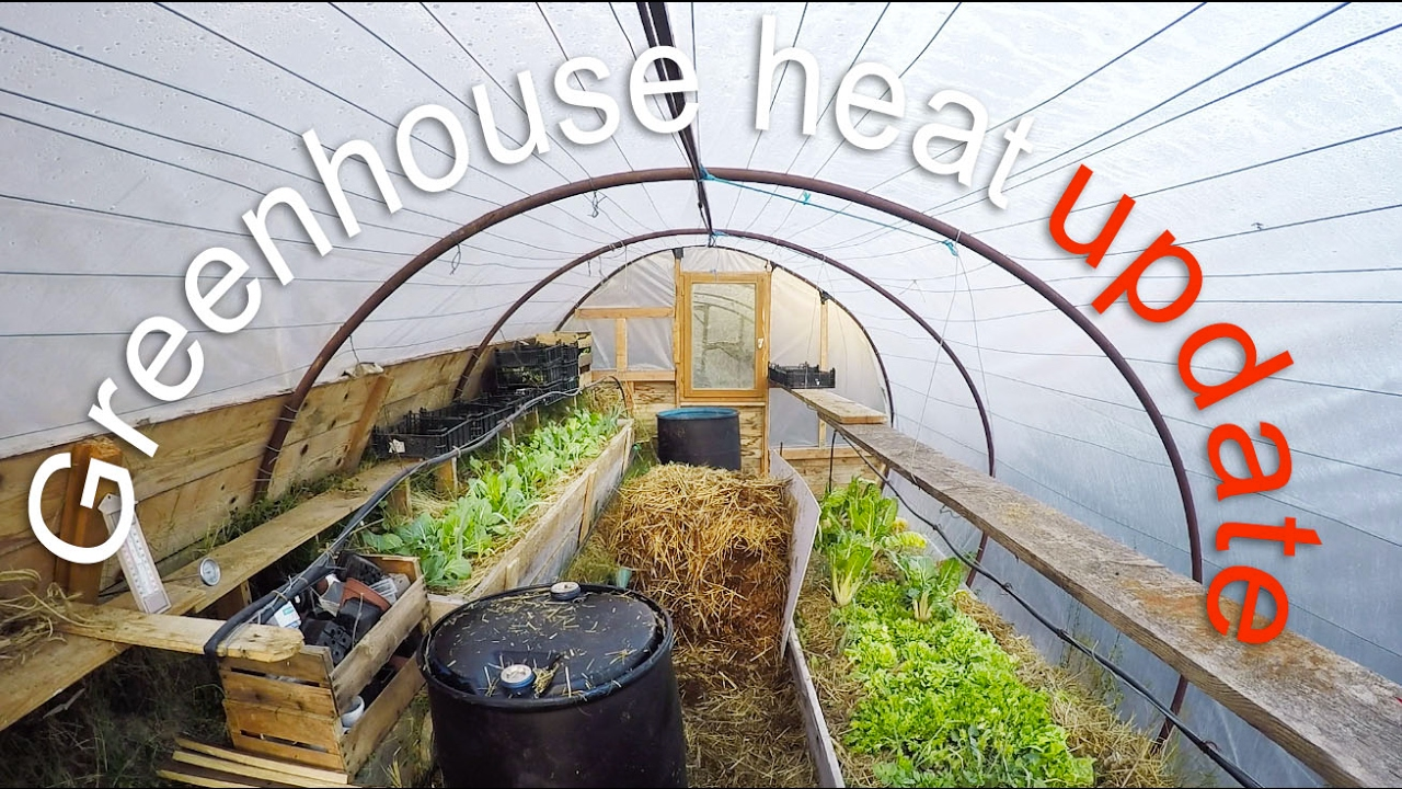 Passively Heating A Greenhouse Compost And Thermal Mass
