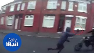 Shocking video of delivery rider getting robbed by thugs
