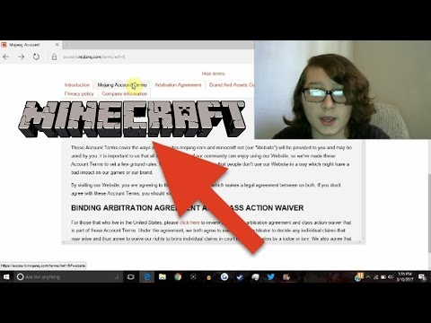 READING THE ENTIRE MINECRAFT TERMS OF SERVICE IN ONE SITTING!