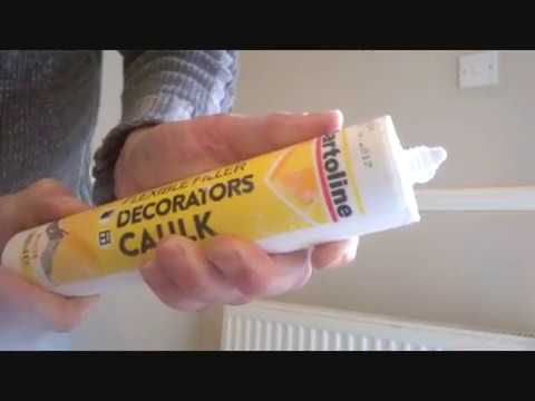 how to fill a crack without the use of a caulk gun youtube. Black Bedroom Furniture Sets. Home Design Ideas