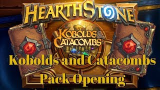 Opening 30+ KOBOLDS AND CATACOMBS PACKS!! [Hearthstone]