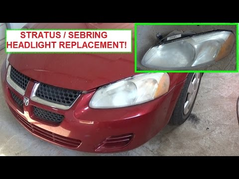 Dodge Stratus Chrysler Sebring Head Light Replacement Headlight Bulb Replacement Youtube