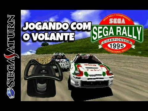 Sega Rally - Jogando com o Volante do Saturno