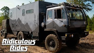 Couple Transform Military Truck Into Dream Mobile Home | RIDICULOUS RIDES
