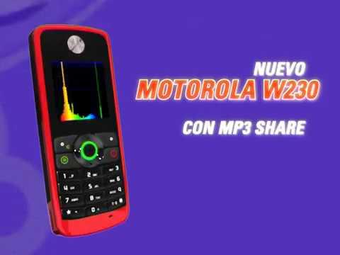 Motorola w230 publicidad