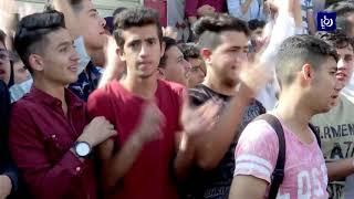 طلبة الثانوية العامة في الأردن يعتصمون ضد نظام الجلسة الواحدة