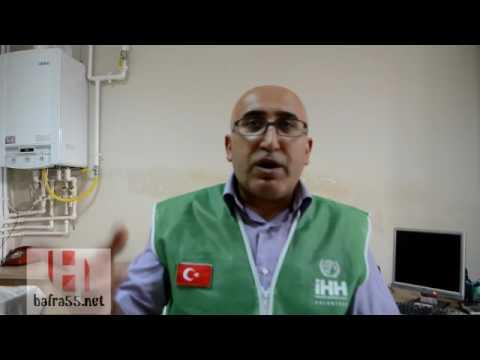 Bafra İHH ramazan yardım paketi dağıtıyor