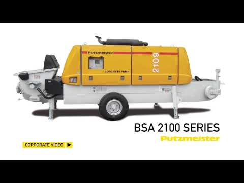 Putzmeister Trailer Pumps BSA Series