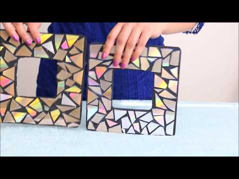 How to make easy HOLOGRAPHIC Decor Tutorial 2017    Old CDs & Cardboard