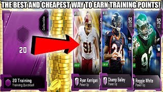 THE BEST AND CHEAPEST WAY TO GET TRAINING POINTS IN MADDEN 19! | MADDEN 19 ULTIMATE TEAM