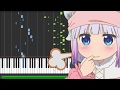 【FULL】Kobayashi-san Chi no Maid Dragon [小林さんちのメイドラゴン] OP - Aozora no Rhapsody (Piano Synthesia)