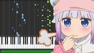 Aozora no Rhapsody - Kobayashi-san Chi no Maid Dragon [小林さんちのメイドラゴン] OP (Piano Synthesia) thumbnail