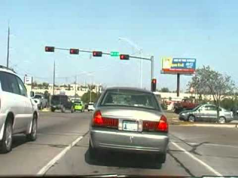 Drive Through Lawton City In Oklahoma