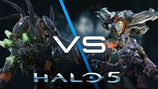 Halo 5 AI Battle - Hunters vs Covenant & Prometheans