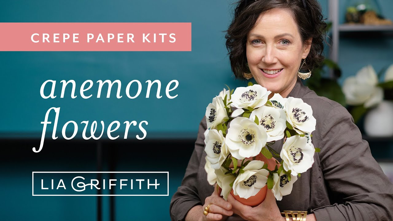Video Tutorial: Crepe Paper Anemone Flower Kits