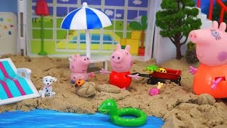 Peppa Pig Holiday Sunshine Villa Playset. Cheerful video for kids. We open a set and we play