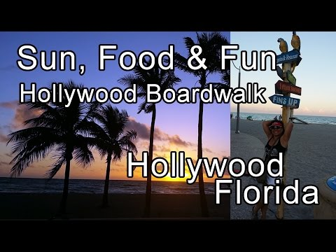 Beach and Boardwalk - Hollywood Florida