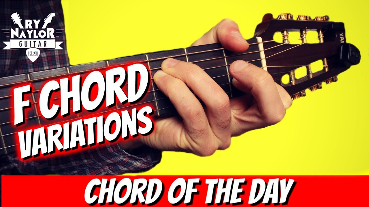 F Chord Guitar Lesson From An Easy F To A Full Barre F Chord With