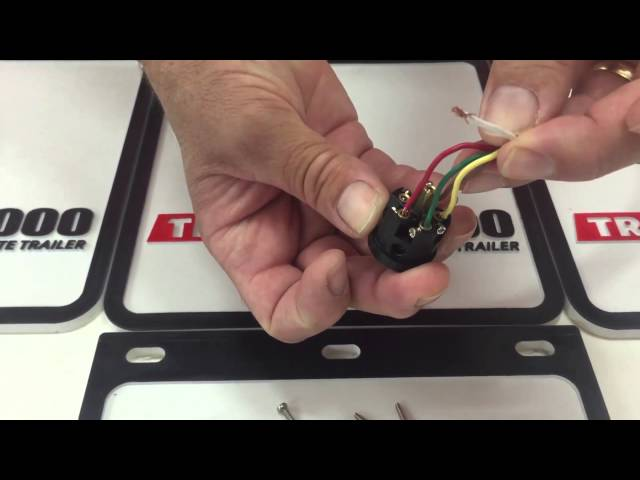 How To Wire A 6 Pin Round Trailer Plug Youtube
