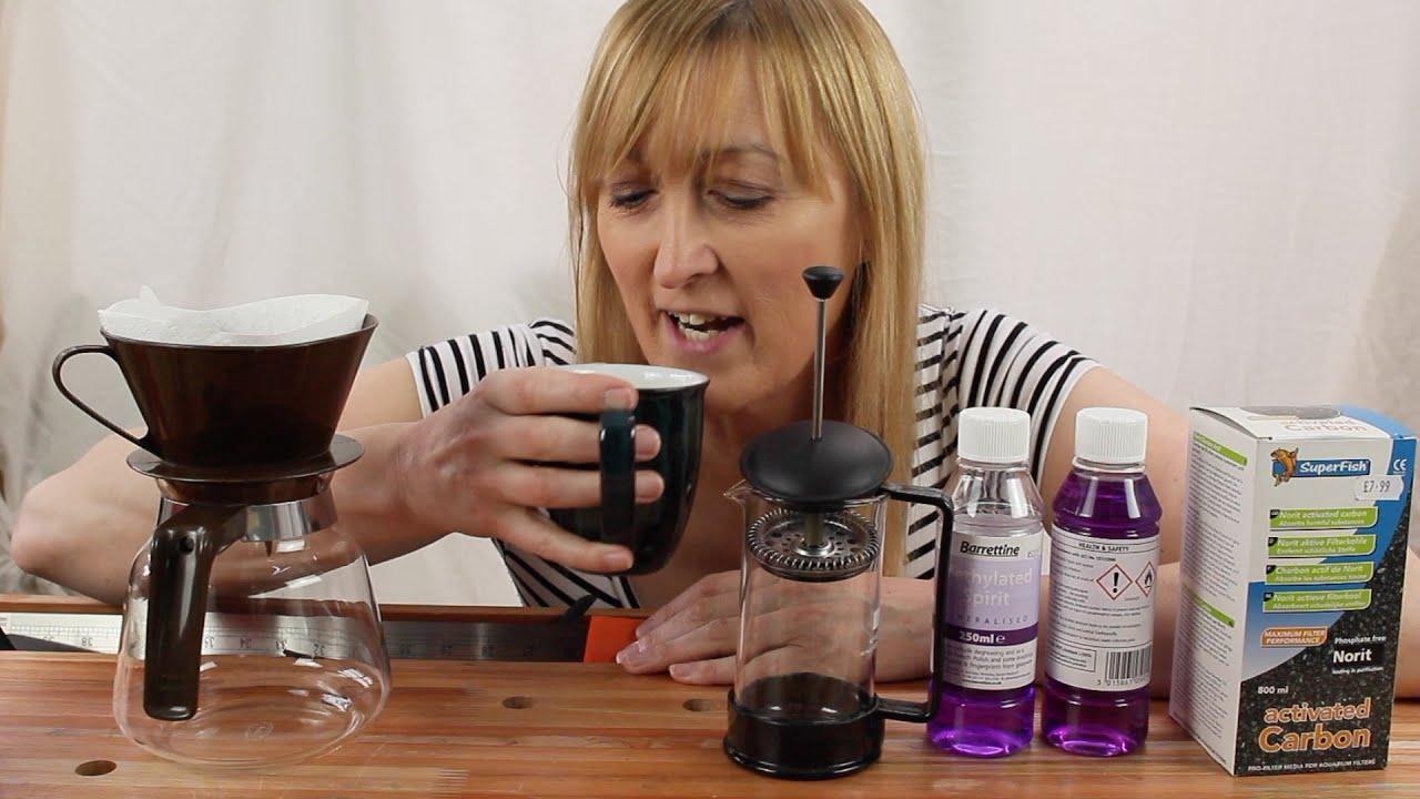 Coffee time - de-purpling methylated spirit