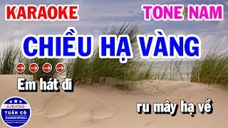 Karaoke Chiều Hạ Vàng Tone Nam D#m Nhạc Sống | Karaoke Tuấn Cò