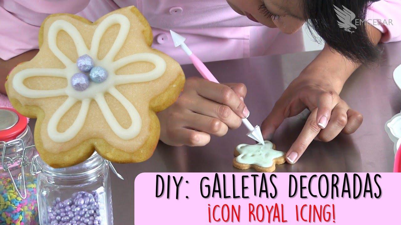 Diy Como Decorar Galletas Flor Con Royal Icing