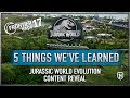 5 Things We've Learned About Jurassic World Evolution - Frontier Expo 2017
