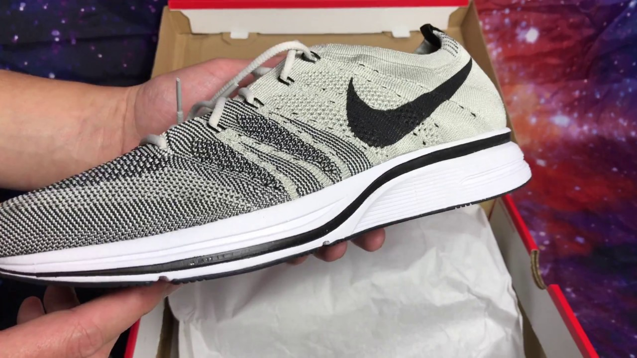 749276585a5f8c Nike Flyknit Trainer Pale Grey Black White Unboxing - YouTube