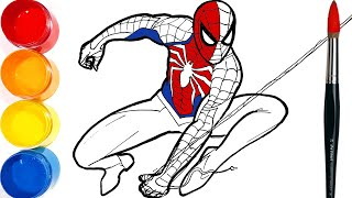 How to draw SPIDER-MAN Drawing and Coloring Pages | Tim Tim TV