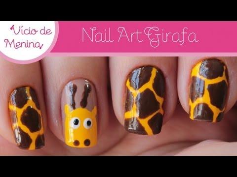 Nail Art Girafa Cute Giraffe Nail Tutorial Youtube