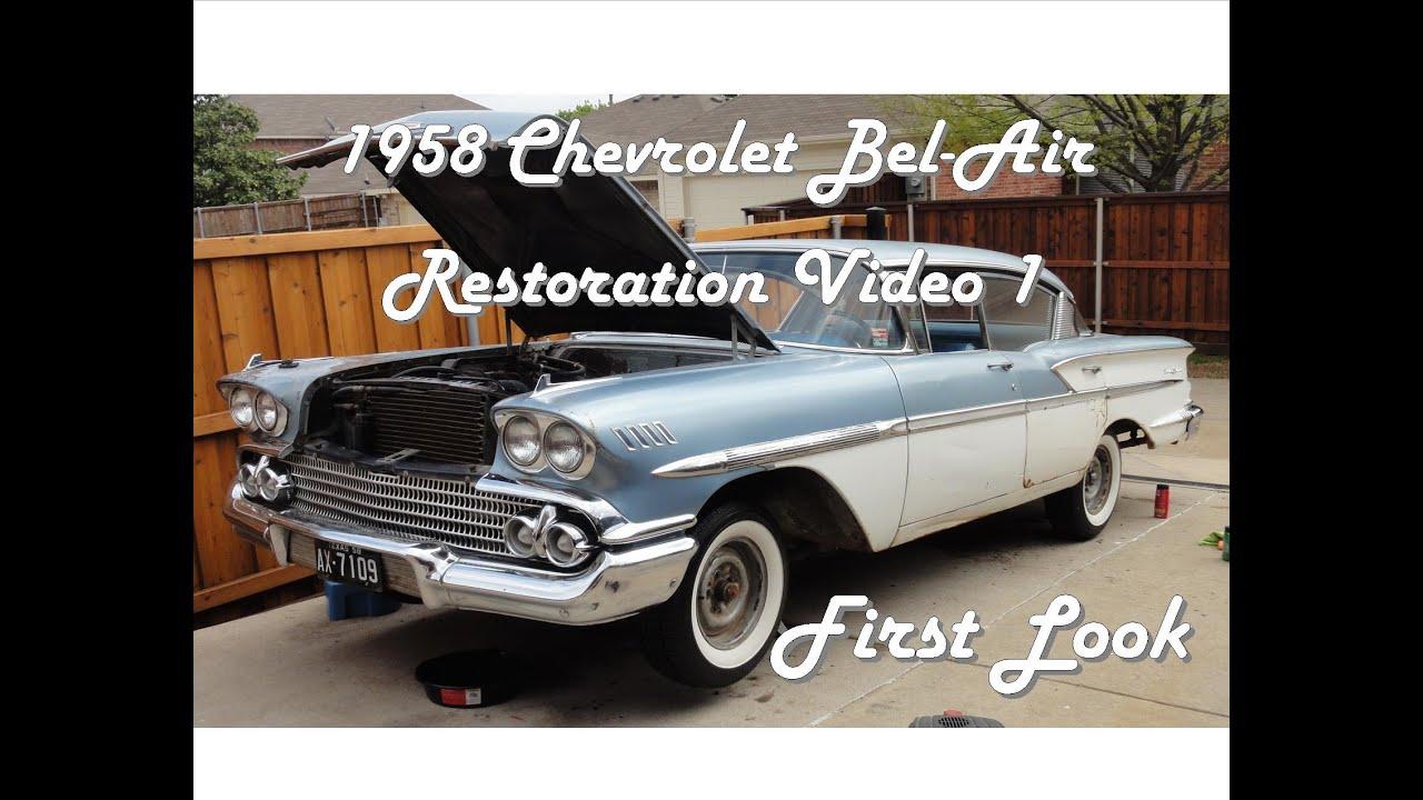 1958 chevrolet bel air restoration video 1 of 12 youtube. Black Bedroom Furniture Sets. Home Design Ideas