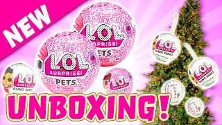 LOL Surprise Dolls New Glam Glitter Series, LOL Pets, and Lil Sisters Unboxing! With Teacher's Pet!