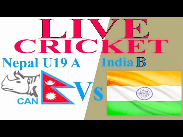 LIVE: Nepal u19 A vs India B CHALLENGER TROPHY Cricket MATCH TODAY ODI 2019 vijayawada stadium