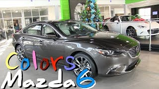 ⚪ New 2017.5 Mazda6 - Exterior Colors & Exclusive Look at Nappa Leather Interior | REVIEW