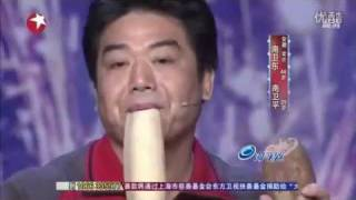 China's Got Talent: amazing, Two Guys Play a Musical Duet with Vegetables