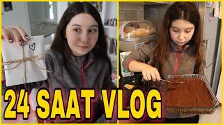 ESİLA BİLTEKİN'İN NORMAL BİR GÜNÜ | Kolay Pasta Tarifi #24saat Vlog