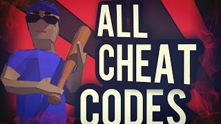 DUDE THEFT WARS: ALL CHEAT CODES! (OLD)