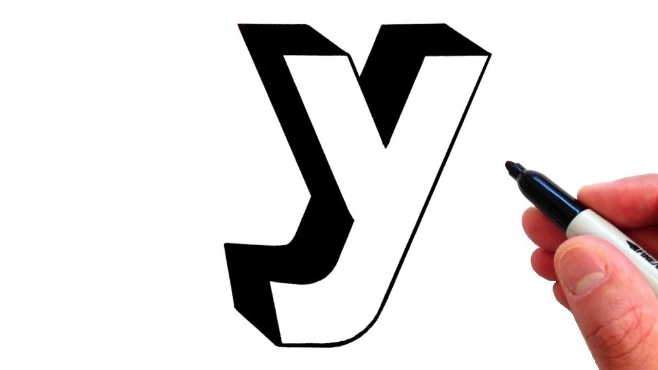 How to Draw Letter y in Lowercase 3D - YouTube