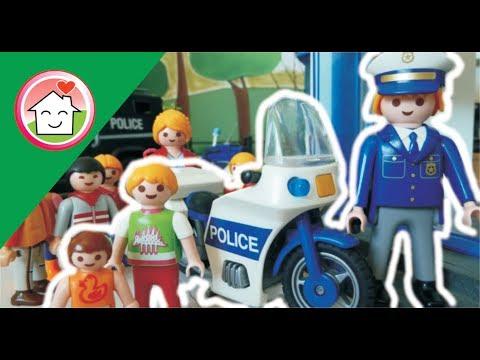 رحلة الحضانة إلى قسم الشرطة - عائلة عمر - أفلام بلاي موبيل للأطفال Playmobil Arabic