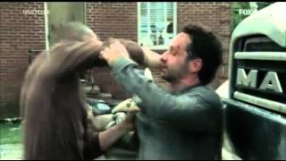 The Walking Dead Pelea De RICK vs SHANE