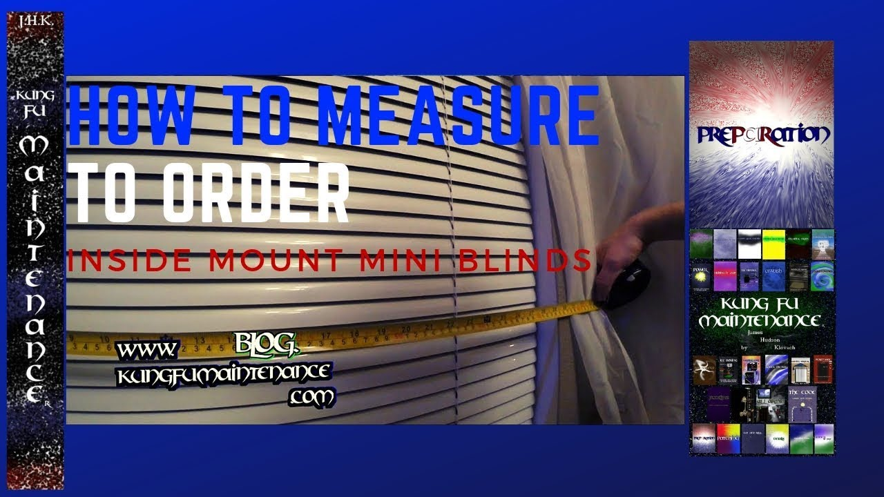 how to measure for one inch mini blinds inside mount order youtube. Black Bedroom Furniture Sets. Home Design Ideas