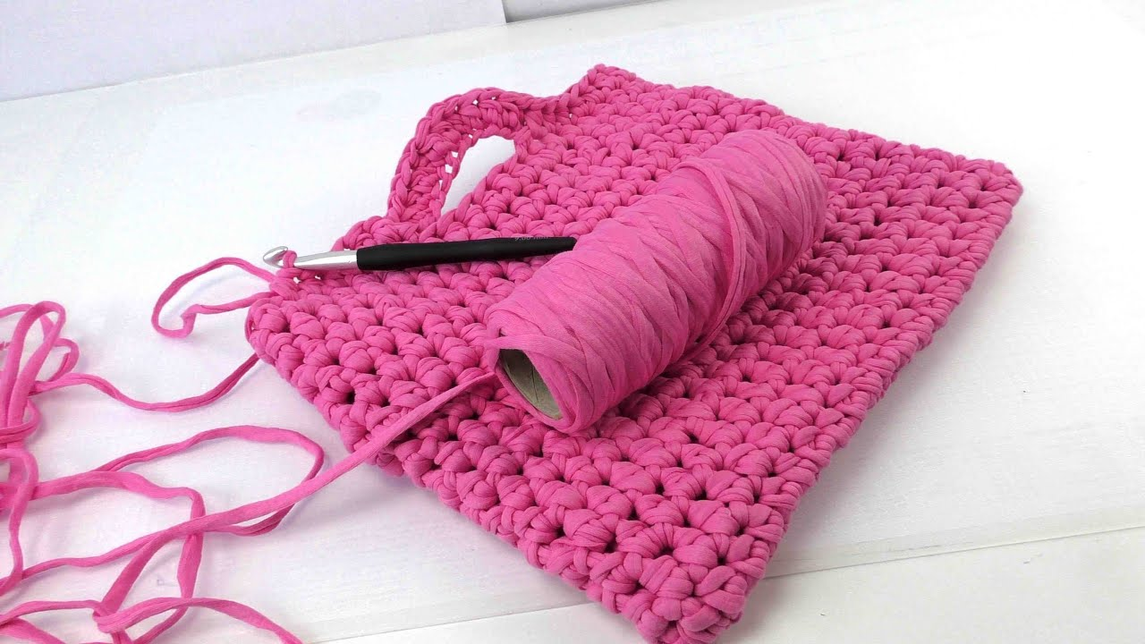 handtasche h keln h kelanleitung tasche deutsch crochet bag tutorial pink youtube. Black Bedroom Furniture Sets. Home Design Ideas