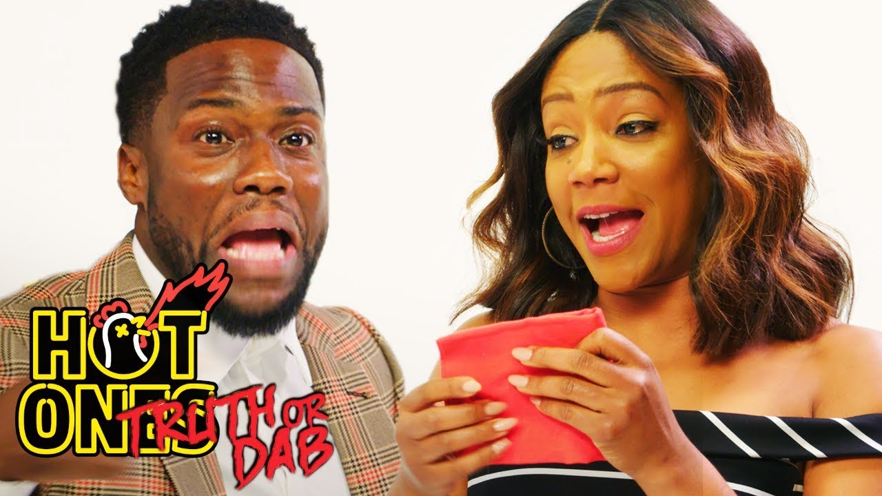 Things Get Spicy When Comedians Kevin Hart and Tiffany Haddish Play Truth or Dab