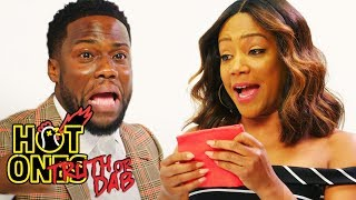 Download Kevin Hart and Tiffany Haddish Play Truth or Dab | Hot Ones Mp3 and Videos
