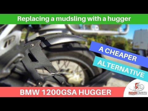 Fitting a new Hugger to a 2018 BMW 1200 GS Adventure   A cheaper alternative