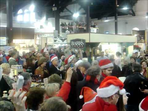 Flash Mob performs the Hallelujah Chorus at the Lancaster Central Market