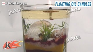 How to make Floating oil candles | JK Arts 464