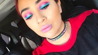 Neon spring eyeshadow look:NYX VIVID CREMES