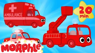 My Magic Ambulance Morphle + My Magic Police Car Morphle and Fire Truck -- Kids Vehicle Compilation!